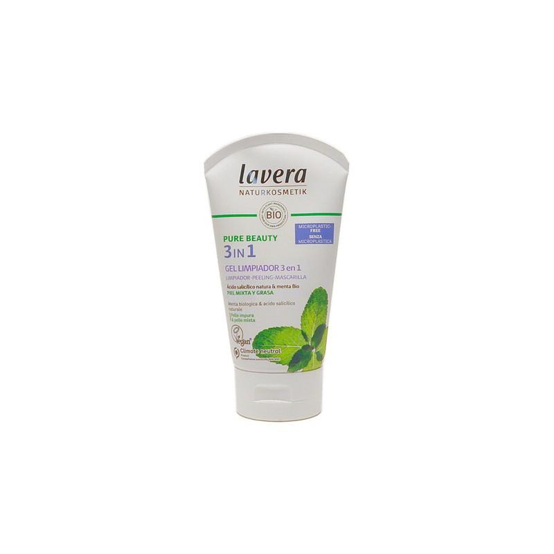 Gel Limpiador 3 en 1 Lavera (125 ml)   Cosmética Natural Online   Maquillaliux Cosmética Ecológica
