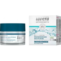 Crema Noche Regeneradora Basis Sensitiv Lavera (50 ml) | Cosmética Natural Online | Maquillaliux Cosmética Ecológica