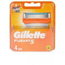 Comprar Recambio de Hojas de Afeitar Fusion Gillette (4 uds) Online en Maquillaliux.com | Depilación y afeitado al mejor prec...