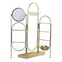 Joyero de Pie DKD Home Decor Metal Espejo Chic (11 x 11 x cm) (46 x 10 x 51 cm) | DKD Home Decor | Accesorios y organizadores...