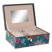 Caja-Joyero DKD Home Decor Tukini Poliéster Tropical (23 x 17 x 9 cm) | DKD Home Decor | Accesorios y organizadores | Maquill...